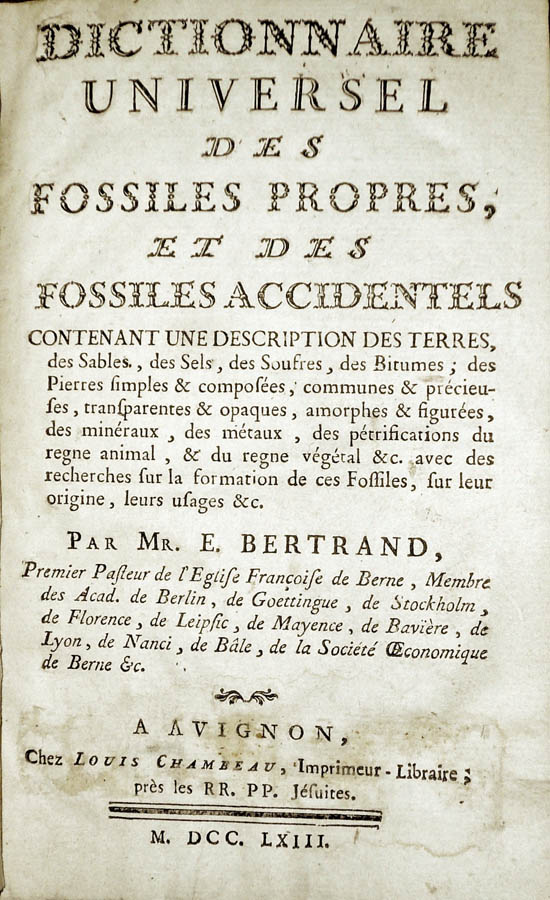 Bertrand, Elie (1763) second issue