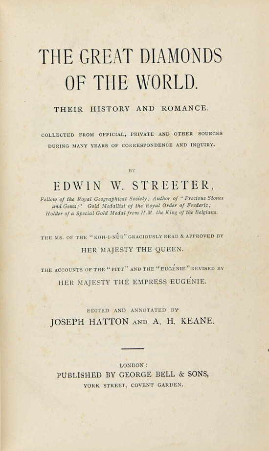 Streeter, Edwin with Hatton, Joseph and Keane, Augustus, Harry (1882, reprint)