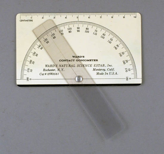 Educational contact goniometer with fixed limbs, Ward's