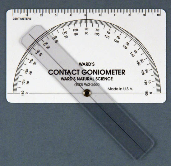 Educational contact goniometer with fixed limbs