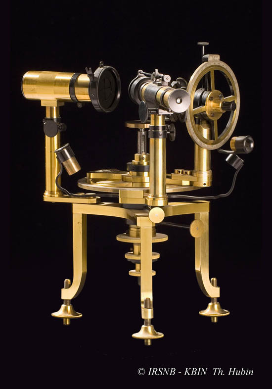 Goldschmidt two circle reflecting goniometer, P. Boët, Brussels